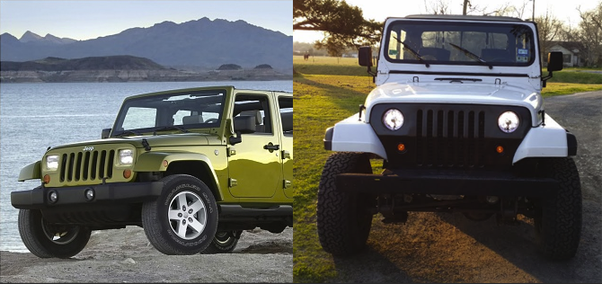 Le Jeep avant et après